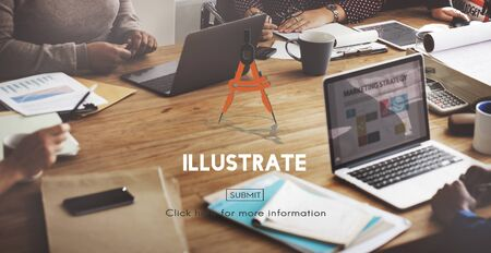 illustrate: Illustrate Draw Imagination Creativity Inspiration Concept