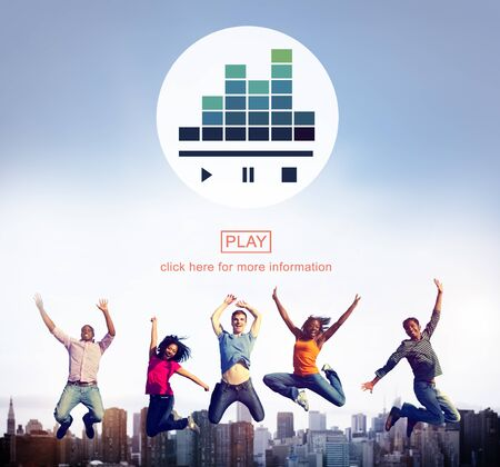 melody: Music Player Media Melody Play Concept Stock Photo