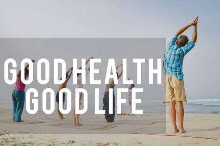 buena salud: Buena Salud Buena Vida Estilo de Vida Nutrici�n Concepto Ejercicio