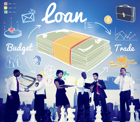 loaning: Loan Finance Economy Banking Accounting Concept