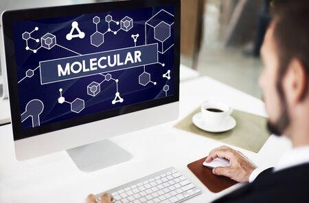 chromosome: Molecular Atom Chromosome Denetic Lab Macro Concept