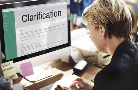justify: Clarification Determination Explanation Question Concept Stock Photo