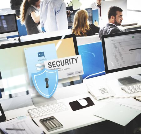 business security: Security System Access Password Data Network Surveillance Concept Stock Photo
