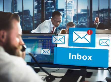 stockmarket: Email Inbox Electronic Communication Graphics Concept
