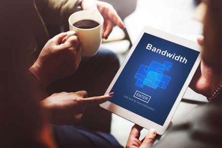 broadband: Bandwidth Broadband Connection Data Information Internet Concept