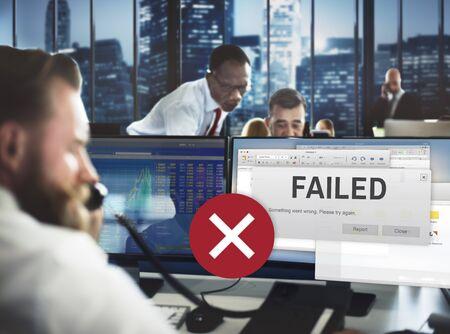 unsuccessful: Failed Fail Failing Fiasco Inability Unsuccessful Concept