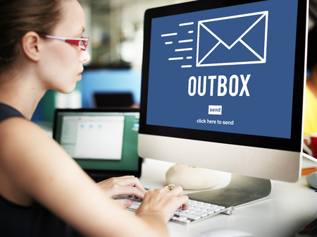 outbox: Outbox Inbox Email Connection Global Communications Concept Stock Photo
