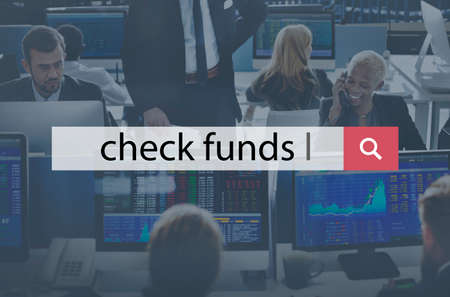 funds: Check Funds Finance Funding Economy Budget Concept