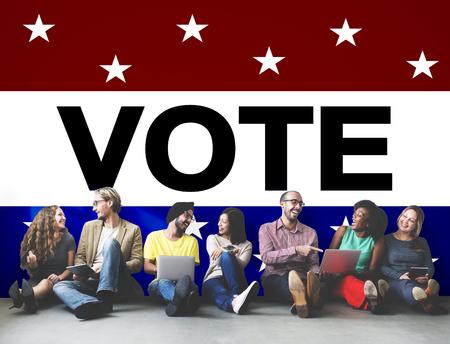 投票選挙政治決定の民主主義概念を投票します。