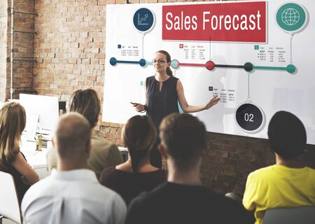 stock predictions: Sales Forecast Strategy Planning Vision Marketing Concept