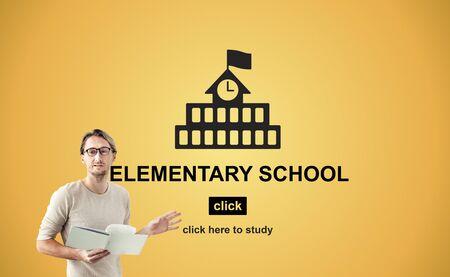 highschool: Education Learning School Knowledge Elementary Highschool Concept Stock Photo