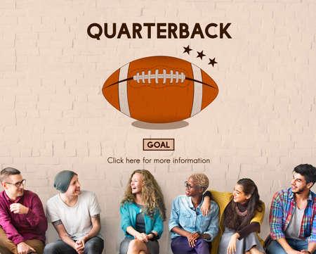 offense: Quaterback Halfback Offense Passion Sport Stadium Concept