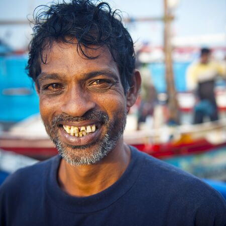 other keywords: Sri Lankan Fisherman Smiling Portrait Concept