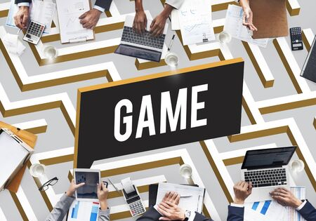 game plan: Game Plan Motivation Business Goals Mission Concept Stock Photo
