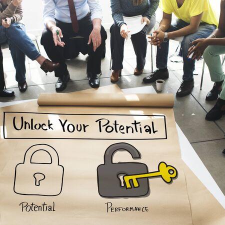 Potential Performance Ability Accomplishment Skill Concept