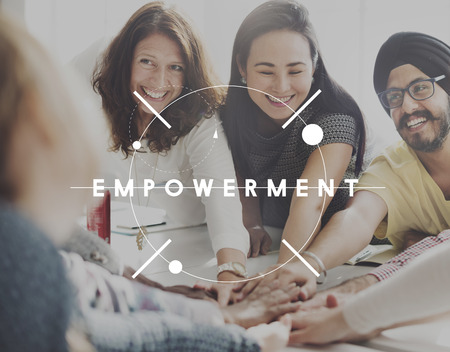 enabling: Empowerment Group Encouragement Together Concept