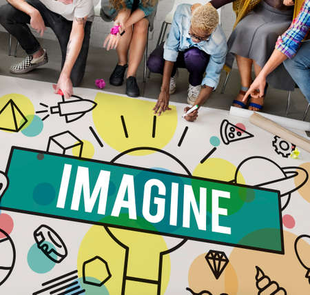 envision: Imagine Creative Thinking Vision Dream Expect Concept