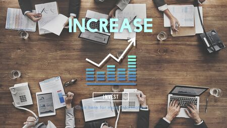 expand: Increase Enlarge Expand Extend Growth Rise Concept Stock Photo
