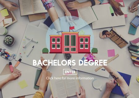 schoolmate: Academic College Bachelor Degree Admission Concept