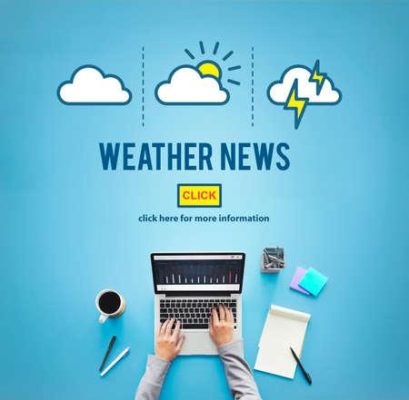 reportero: El tiempo Noticias Informaci�n Reportero Concept Foto de archivo