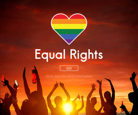 equal rights: Gay LGBT Equal Rights Homosexuality Concept