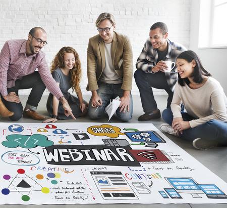 Webinar Innovation Web Design Technology Concept Stock Photo