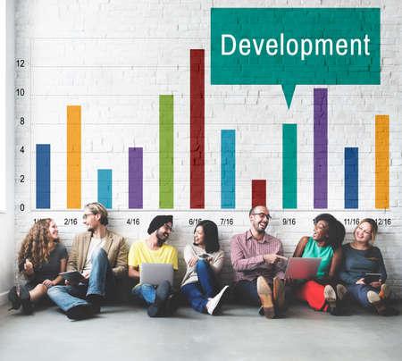buildup: Development Growth Progress Icon Concept