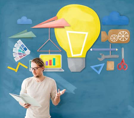 do it yourself: Tools Craftsmen Hobby Idea Imagination Concept Stock Photo