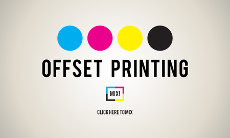 offset: Printing Process Offset Ink Color Industry Media Concept
