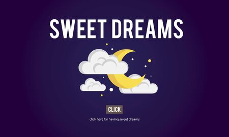 sweet dreams: Sweet Dreams Happiness Ilusion Relief Good Night Concept