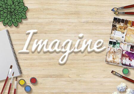 expect: Imagine Imagination Vision Creative Dream Ideas Concept Stock Photo
