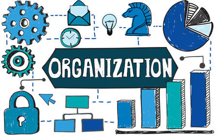 productivity system: Organization Management Structure Corporate Company Concept