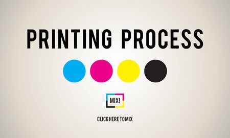 electronic publishing: Printing Process Offset Ink Color Industry Media Concept