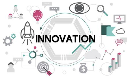 futurism: Innovation Creative Design Development Modern Concept Stock Photo