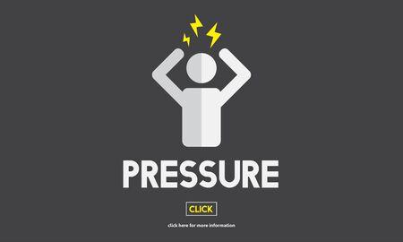 phobia: Pressure Afraid Nervous Panic Phobia Stressed Concept Stock Photo