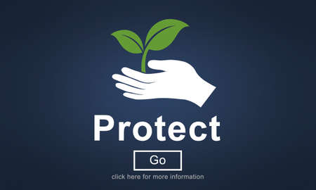 protect: Protect Environmentally Friendly Preservation Concept