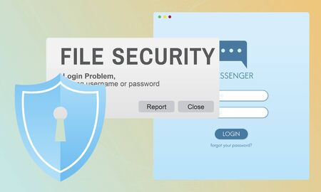 the details: File Security Data Details Facts Information Media Concept Stock Photo