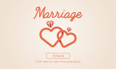 marry: Marriage Love Wedding Heart Marry Concept