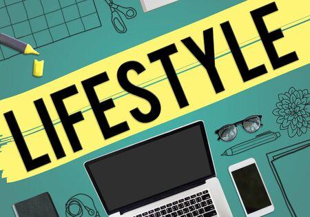 habits: Lifestyle Hobby Passion Habits Culture Behavior Concept Stock Photo
