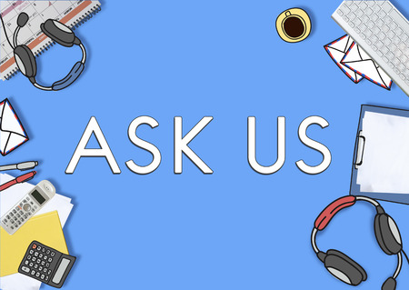 Ask Us Enquire Question Information Contact Concept Stock Photo