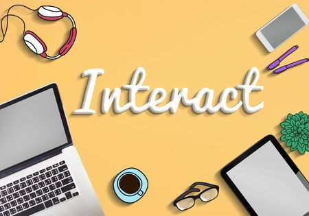 interact: Interact Interaction Interactive Interacting Group Concept Stock Photo