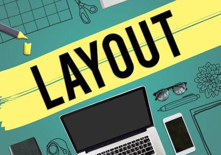 editing: Layout Arrangement Design Creative Editing Concept