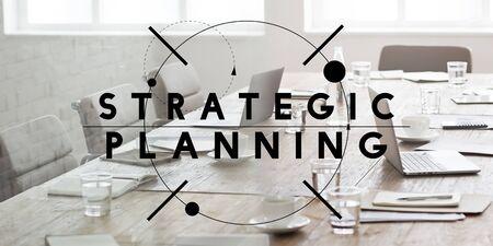 planeaci�n estrategica: Concepto de Gesti�n Visi�n Estrat�gica de Valor Planificaci�n Foto de archivo