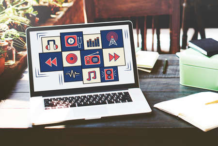 gadget: Multimedia Application Gadget Entertainment Concept