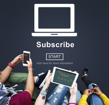 Subscribe Advertising Marketing Membership Concept Stock Photo