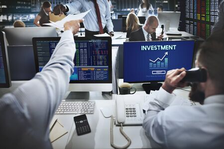 global investing: Invest Investment Financial Income Profit Costs Concept Stock Photo