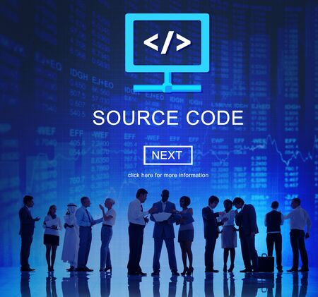 binary data: Source Code Binary Data Internet Program Decode Concept
