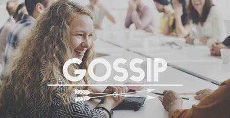 hearsay: Gossip Rumor Hearsay Scandal Conversation Concept Stock Photo