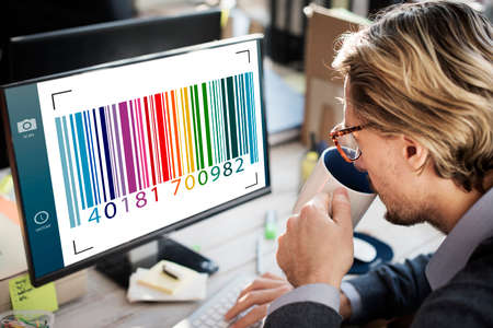 codigo barras: Enfoque de interfaz de c�digo de barras etiqueta de la c�mara