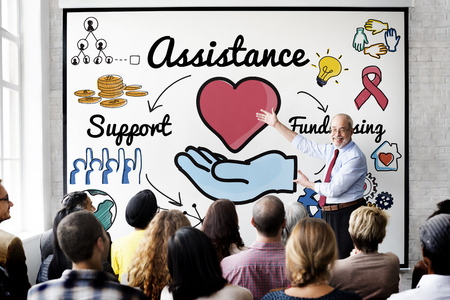 and assistance: Assistance Aid Help Support Partnership Teamwork Concept Stock Photo